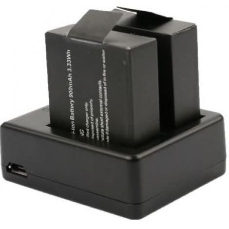 Зарядное устройство на 2 аккумулятора для экшен камеры NOVELEKA NC1, NC2